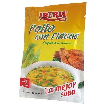 SOPA POLLO CON FIDEOS...