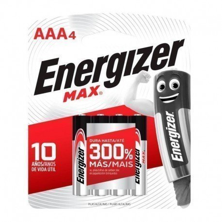 PILAS AAA 4UND ENERGIZER MAX
